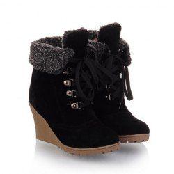 Cheap Wedge Heel Womens Boots   Sammydress.com-$17.44