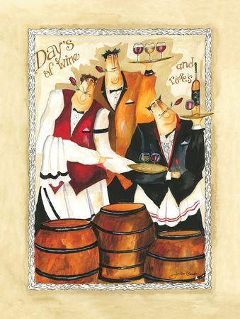 Chef's - Wine & Roses ll - By: Jennifer Garant - Art Print