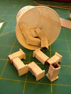 making fence posts for Putz houses by christmasnotebook, via Flickr