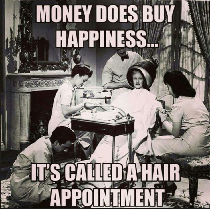 Getting that hair done....