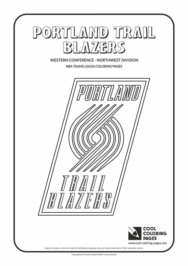 Cool Coloring Pages - NBA Basketball Clubs Logos - Western Conference…