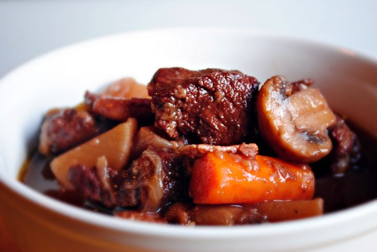 Braised Venison Stew in a Red Wine & Bitter Chocolate Sauce - actually found this elsewhere attributed to Gordon Ramsey but seems to be the same. Was yummy.