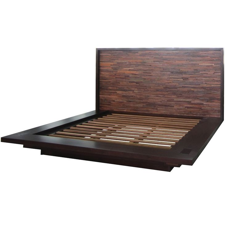 Devon Reclaimed Wood Queen Platform Bed Frame Queen