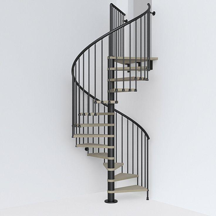 Escalier Colimacon Rond Revers Acier Noir Ring 12 Marches Orme