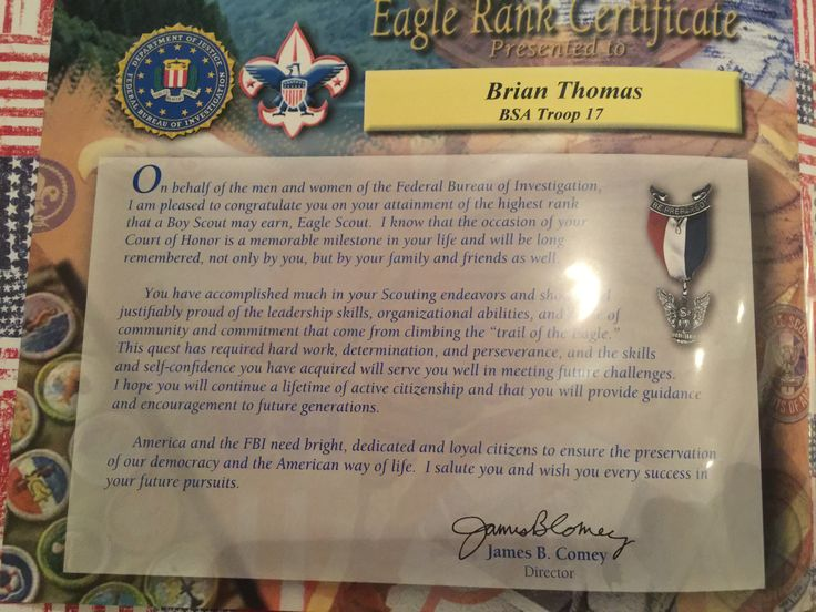 Eagle Scout Court Of Honor Letters Of Congratulations