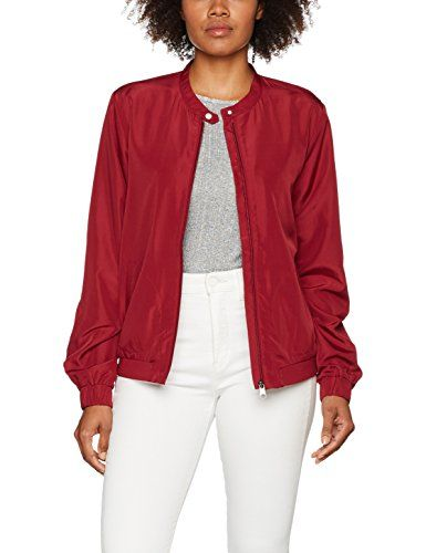 edc by Esprit 087cc1g039 Blouson Femme Rouge (Garnet Red 620) Small ... fc04c15fd03