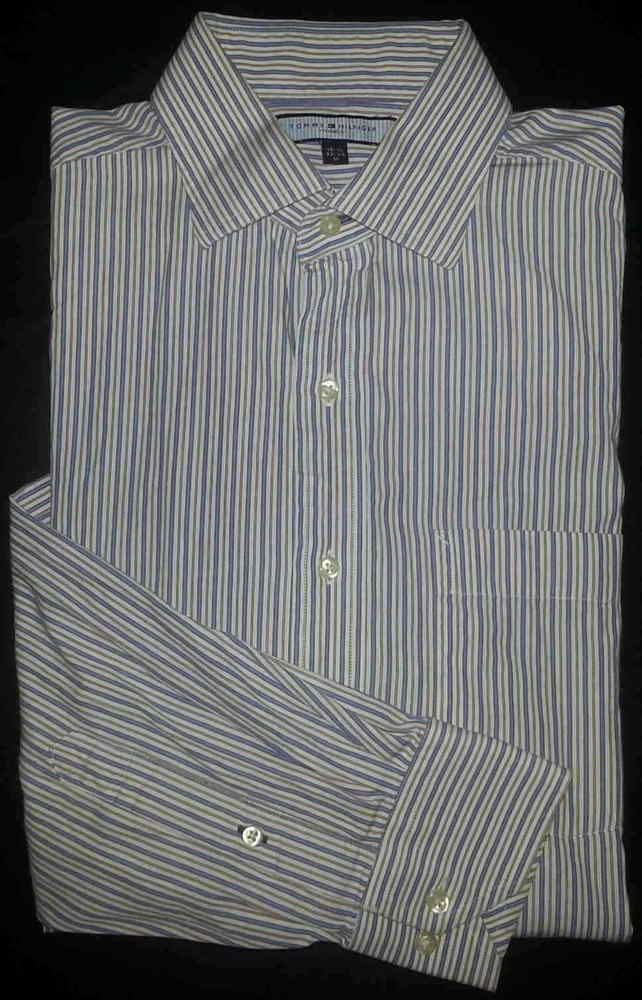 c8aa70d5 Tommy Hilfiger Ithaca Dress Shirt M 15.5-32/33 Blue White Red L/S s2196  #fashion #clothing #shoes #accessories #mensclothing #shirts (ebay link)
