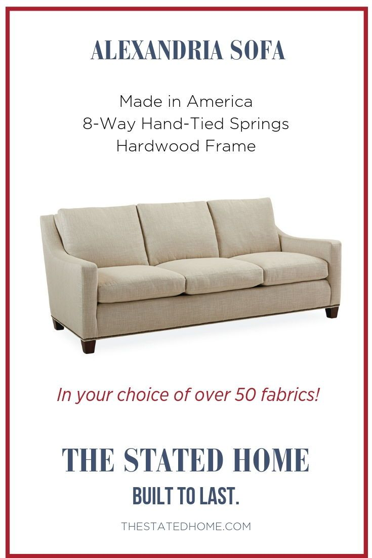 Perfect Transitional Sofa With Sloped Arms Is A Mix Of Traditional And Modern Made In America By Lee Industries Long Lasting Construction 8 Way