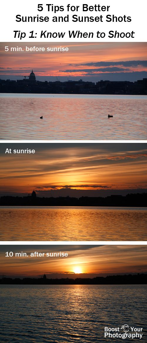 5 Easy Tips for Better Sunrise and Sunset Photographs: know when to shoot | Boost Your Photography
