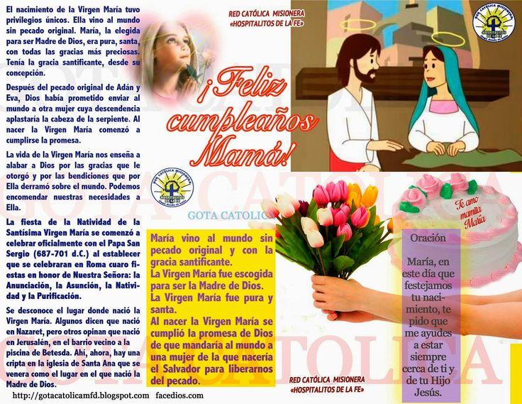 GOTA CATÓLICA: Feliz cumpleaños Mamá, Te amo mamita María!!! / RE...