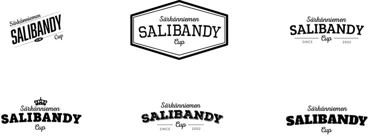 Some early versions of Särkänniemen Salibandy Cup logo.