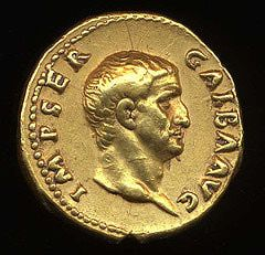 Roman Gold Coin Emperor Galba. One of the emperors during the year of the four emperors. Galba ruled from June 8, A.D. 68 – January 15, A.D. 69.