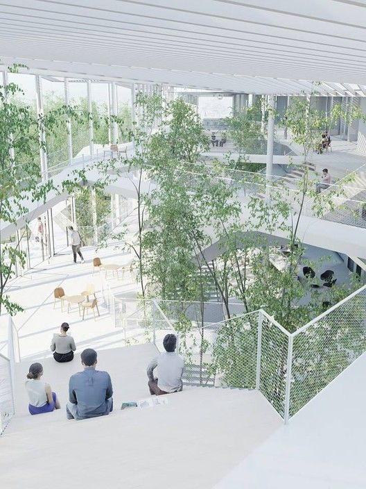 Sou Fujimoto-Led Team Selected to Design Ecole Polytechnique Learning Centre in Paris,Courtesy of Sou Fujimoto Architects, Manal Rachdi OXO Architects and Nicolas Laisné Associates