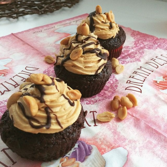 vegane snickers cupcakes #vegan