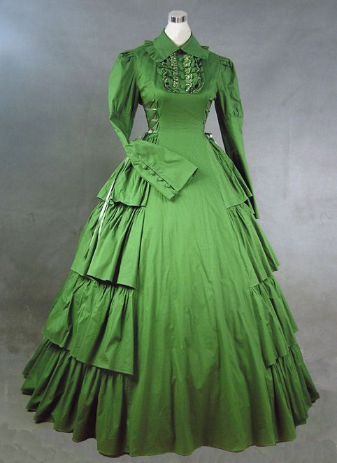 Victorian Day Dress - to me this seems a little too 'modern' looking to possibly be a victorian style of dress. It's still nice though, I do find the thought of hiring one of these a bit strange.