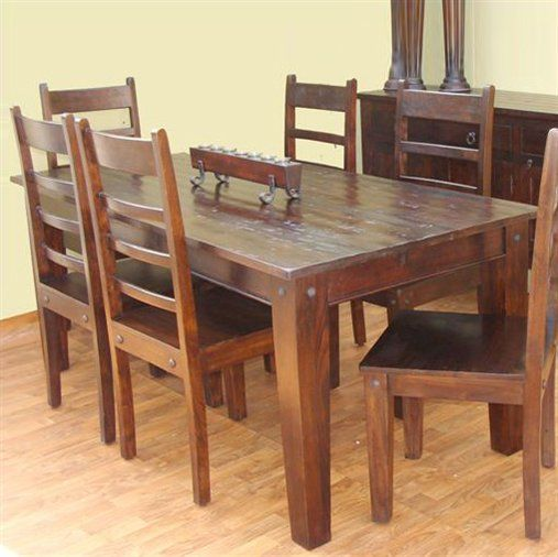 Aishni Wave Solid Wood Dining Table Perfect For That