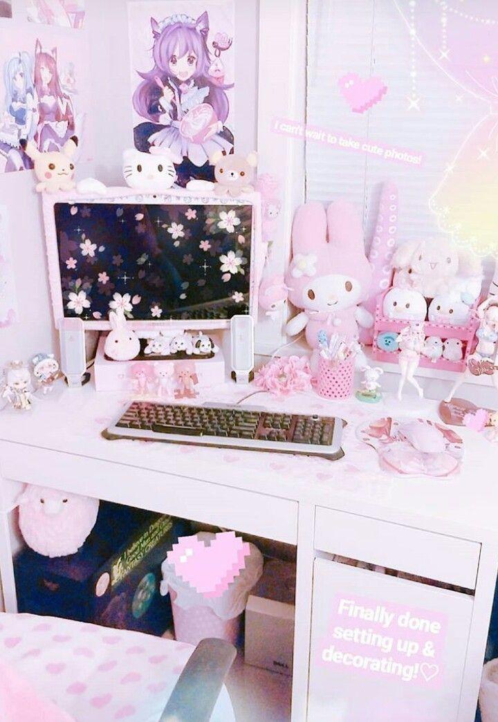 Pin By Lily On Room Kawaii Bedroom Kawaii Room Pastel Room