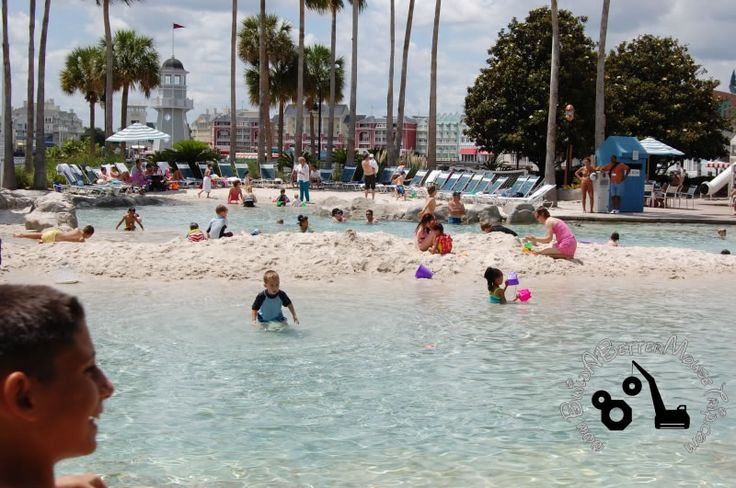 Little ones love this artificial beach area in the Storm-Along Bay Pool at Disne…