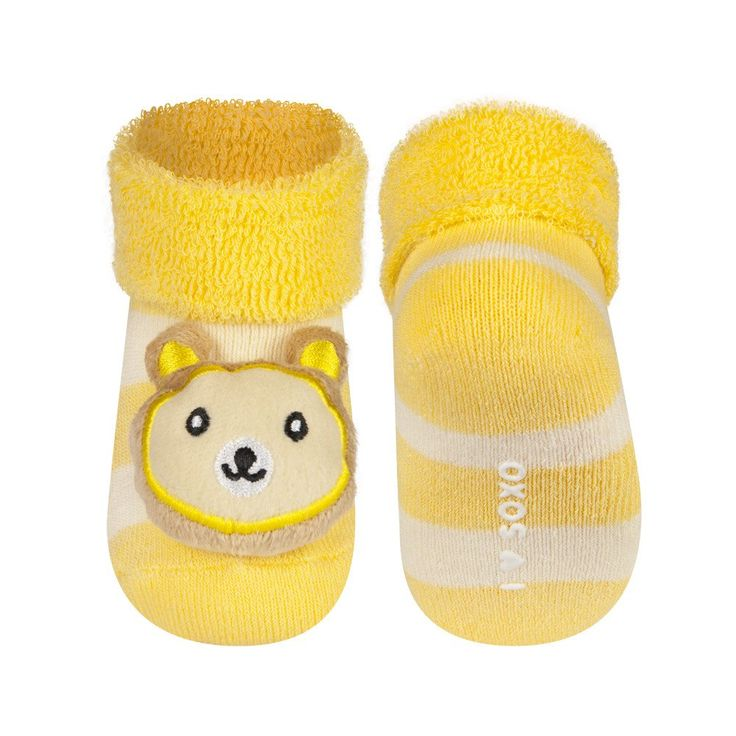 BABY RATTLE SOCKS 'SOXO' SMALL - BEAR    #MamaFashionMe - Aussie Online Store with Beautiful Accessories for Girls + Some for Boys