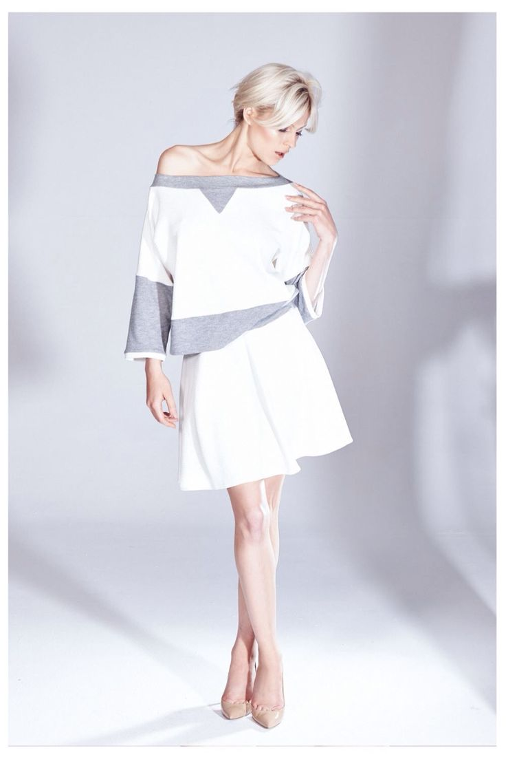 Casualowy komplet bluza i spodnica z kolekcji AW 2014/15 THECADESS