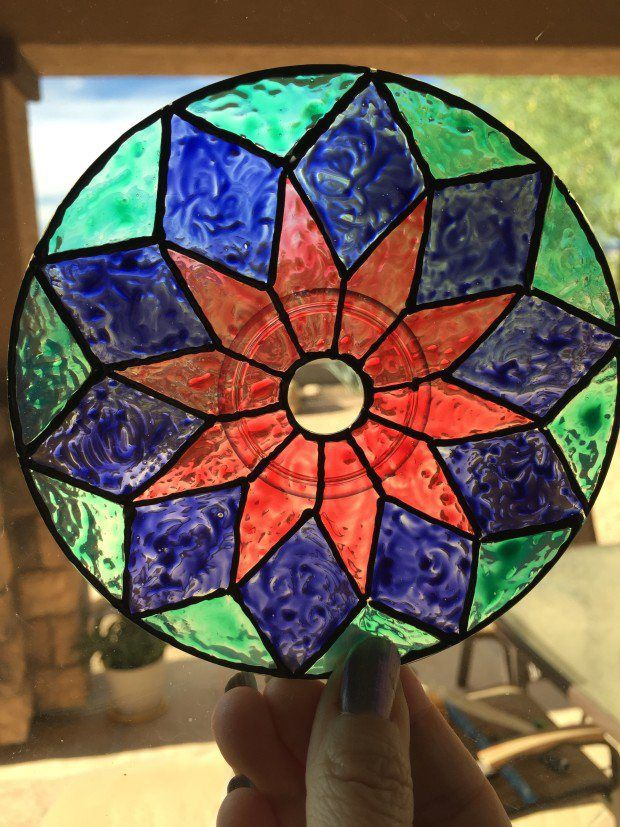 DIY cd sun catcher! Great way to recycle those CD's laying around