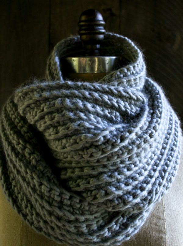 Whit's Knits: Crocheted Rib Cowl – Purl Soho – Knitting Crochet Sewing Embr…