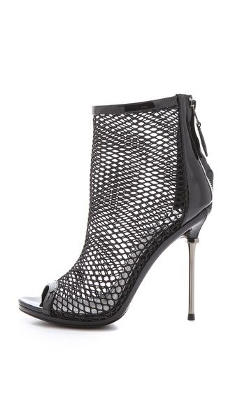 B Brian Atwood Michelet Mesh Booties - WHERE HAVE YOU BEEN ALL MY LIFE?! My feet have been dreaming of you.