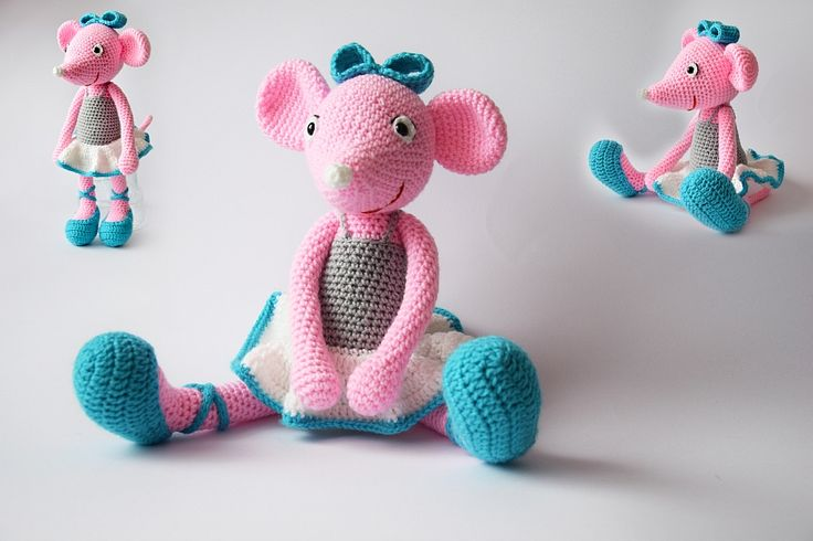 Agnieszka Mężyk, Szydełkowe Stwory, myszka balerina www.polandhandmade.pl #polandhandmade #crochet #amigurumi