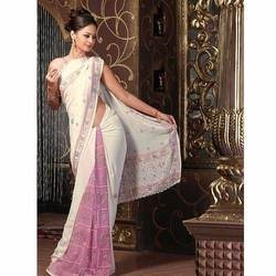 2 colour saree