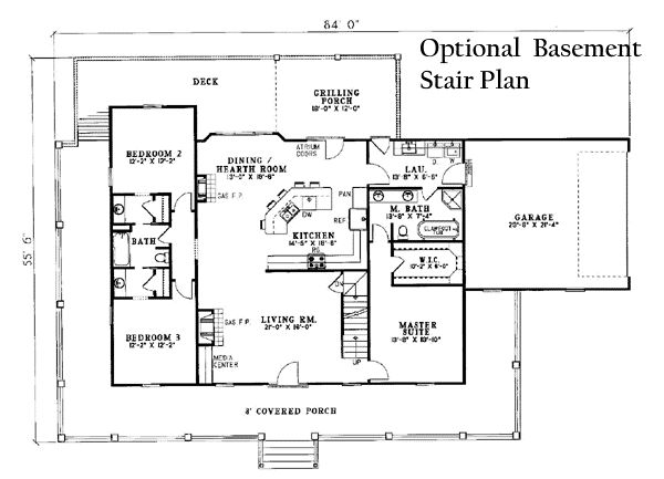 Plan Too Country Style House Plan 3 Beds 3 Baths 1921 Sq Ft Plan