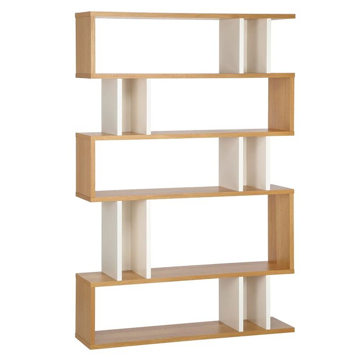 Counter Balance Tall Hylla, Ek/Vit, Content by Terence Conran 180x120x30cm