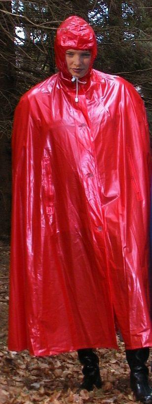 Mädchen im roten Regencape | Things to Wear | Pinterest