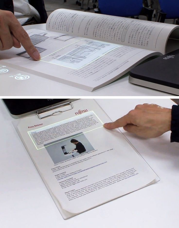 Fujitsu invented gadget that turns paper into touchscreen