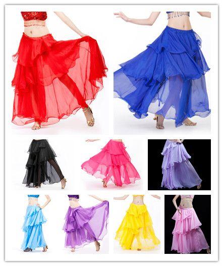 Танец живота слоистых юбка индийский танец торт юбка танец живота юбка 1 шт. юбка 12 цвет