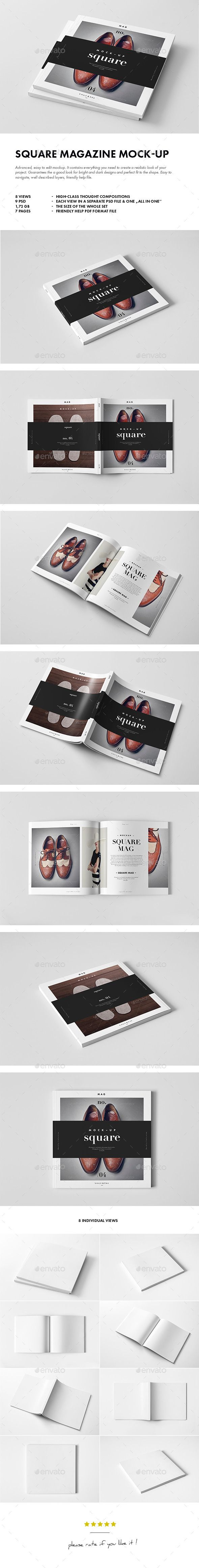 Square Magazine Mock-up | Buy and Download: http://graphicriver.net/item/square-magazine-mockup/9877732?ref=ksioks