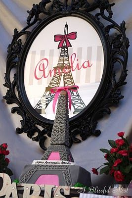 Amazing Barbie Cake and love this frame #barbie #paris #party