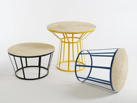 These tables are made in Morocco - the tops are weaved with palm leaves: Palms Leaves, Side Tables, Southern, Artisanat Du, Akka Oasis, Products Design, Collaborative Projects, Aïssa Logerot, Amandin Chhor