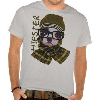 perro divertido del inconformista, animales del camisetas