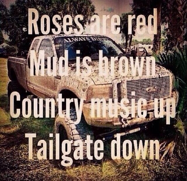 Just because I'm all punk rock on the outside doesn't mean I dont love country music, mud, lifted trucks, and riding horses..