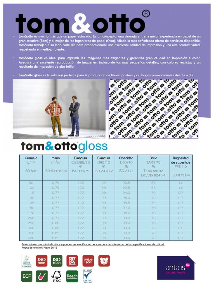 Ficha técnica tom&otto Gloss