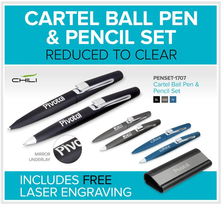 Cartel Ball Pen & Pencil Set – Reduced To Clear – Bell Jar Pty Ltd