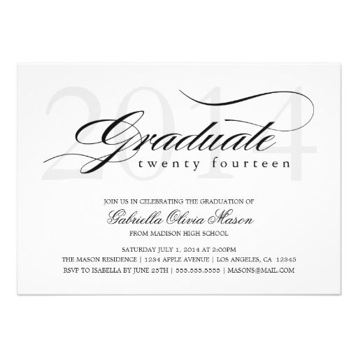 50 best save the date images on pinterest invites grad parties 5 x 7 elegant graduate graduation party invite filmwisefo Gallery