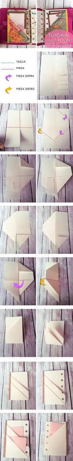 Lucy-Wonderland: Tutorial_ Multipocket per filofax