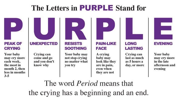 """Here is some advice on why your baby wont stop crying after you've tried everything. This can usually called the """"Purple Crying Period"""""""