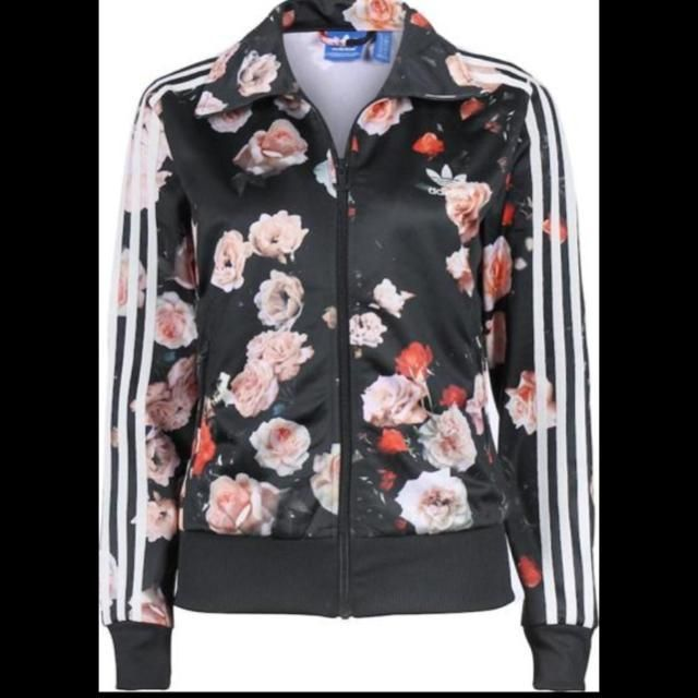b1e4d4bb119 ORIGINALS ADIDAS WOMEN FIREBIRD ROSES FLOWER BLACK TRACK TOP JACKET S M 36…