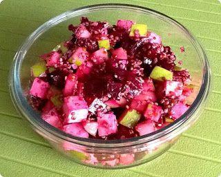 Salade de quinoa à la betterave, pomme verte et feta