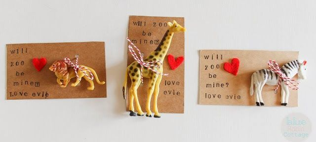 Here are some great ideas for candy free valentines for the kids! Will Zoo Be Mine Valentines from Blue Robin Cottage #ValentinesDay