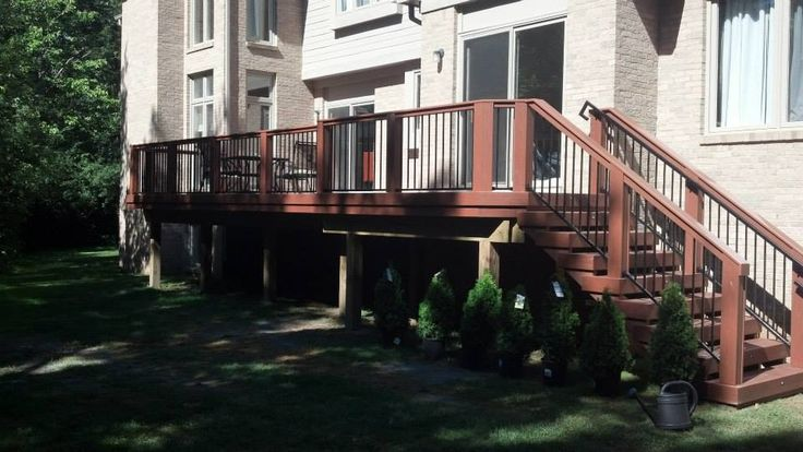 A recently completed #pvc #deck in #Michigan #outdoor #entertainment #Gossen #Fortress