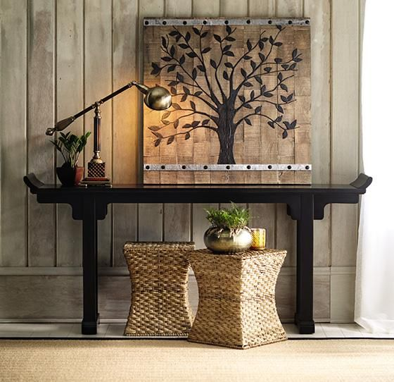 Mandarin altar table furniture living room entryway for Altar wall decoration
