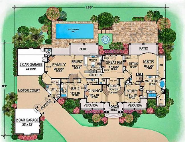 Mediterranean Villa House Plans - Home Design Minimalist